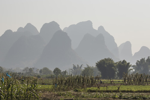 China, op het land